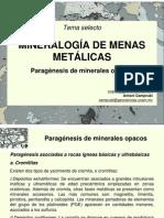 Mineralogia en Menas Metalicas