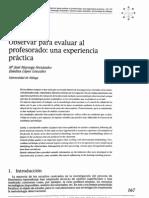 Observar Para Evaluar Al Profesorado Una Experiencia Practica