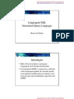 14 - Linguagem de defini‡Æo e manipula‡Æo de banco de dados (query language
