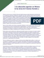 Panorama de La Educacion Esuperior en Mexico en Cs y Humanidades