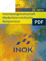 FESTSCHRIFT 20 Jahre INÖK – Interessengemeinschaft Niederösterreichische KomponistInnen
