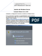 Instalación de Windows Server