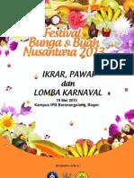 Booklet Pawai Dan Lomba Karnaval