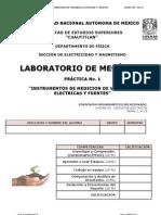 PRACTICA 1 -INSTRUMENTOS DE MEDICIÓN DE VARIABLES ELÉCTRICAS Y FUENTES-