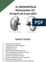 Kuliah Pendahuluan Urogenitalia 2011 (Dr.slamet)