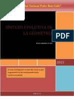 SINTESIS EVOLUTIVA DE LA GEOMETRÍA