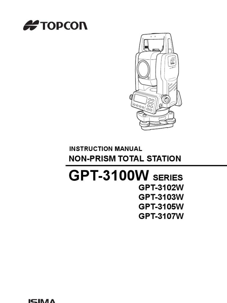 GPT-3100W: Non-Prism Total Station Series GPT-3102W GPT