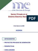 Sector Privado en El Sistema Electrico Nacional
