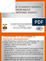 Budget Basics for UP Students by Leonor M. Briones