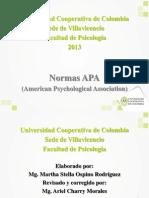 NORMAS APA FACULTAD DE PSICOLOGÍA 2013-2