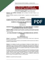 Ley Para Prevenir y Eliminar La Discriminacion en El Distrito Federal