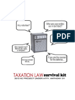 TAXATION LAW Survival Kit by 4C