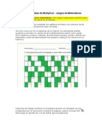 Crucigramas de Tablas de Multiplicar