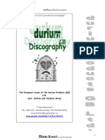 Durium GB Discography