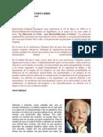 LA EDUCACIÓN ES EDUCARSE (Gadamer)