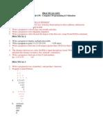 Cpu Practical List