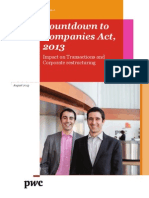 Countdown to Companies Act 2013 Impact on Transactions and Corporate Restructuring