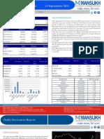 Daily Derivative Report 11.09.13