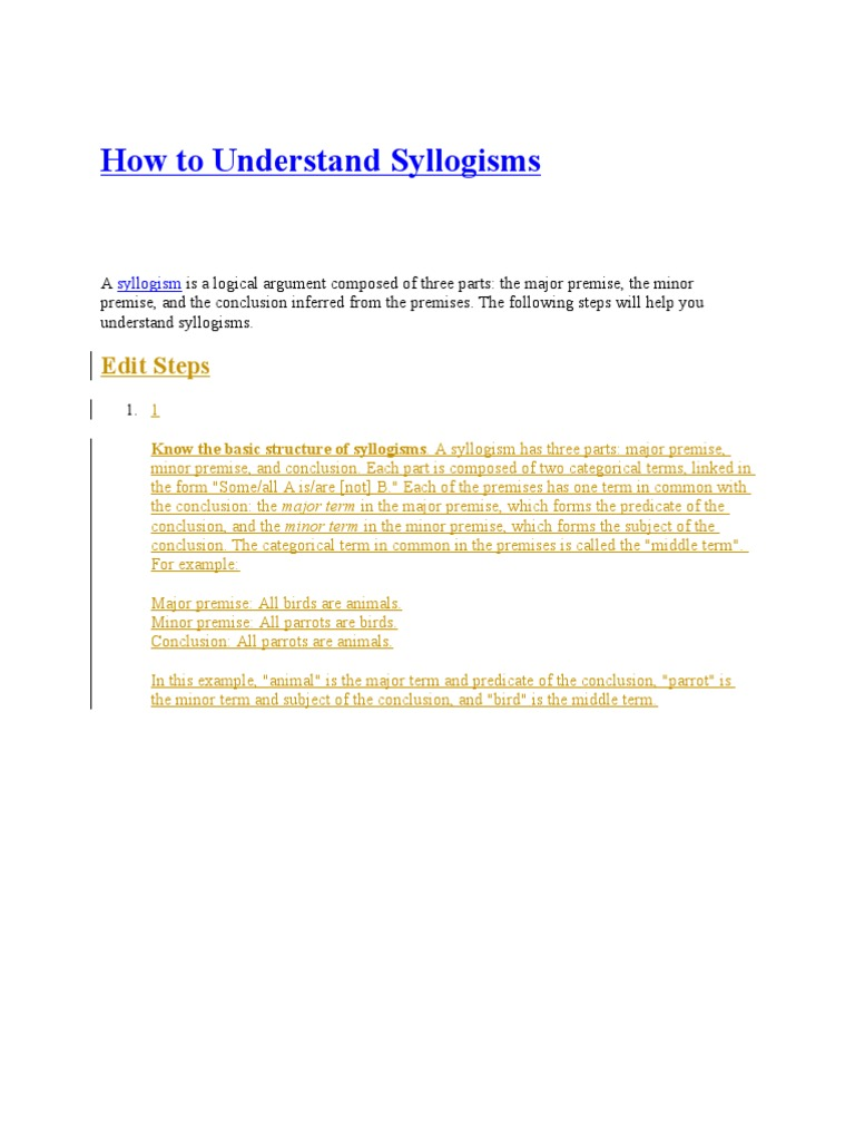 How to understand syllogisms logical consequence semantics pooptronica Choice Image