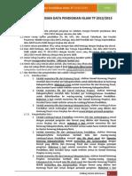 Petunjuk Pengisian Data Mi Tp 2012
