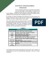 CONSUMO DE FRUTAS Y HORTALIZAS EN MÉXICO