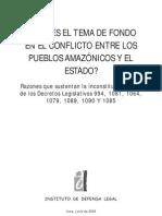¿Cuál es el tema de fondo en el conflicto entre los pueblos amazónicos y el Estado?