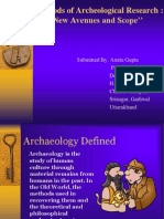 new avenues & scope of archaeological methods
