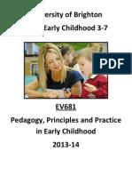 Ev 681 Programme Final