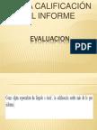 De La Calificacion Al Informe
