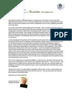 PASPAC eNewsletter September 2013