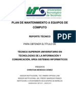 PLAN DE MANTENIMIENTO A EQUIPOS DE CÓMPUTO4