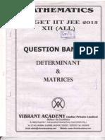 Question Bank on Determinants & Matrix