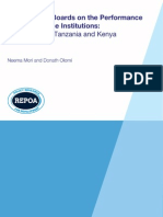 The Effect of Boards on the Performance of Microfinance Institutions