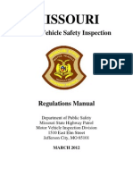 MO Motor Vehicle Inspection Regulations Manual