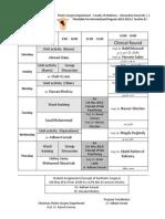 Timetable for International Program 2012-2013 _ Section B