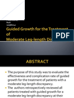 Guided Growth for the Treatment Of