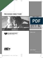 Harmony Provider Directory 2007