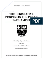 Legislative Process In the Indian Parliament