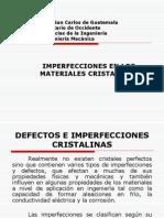 Imperfeciones de Los Cristales