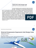 Supersonic External Compression Inlet Design
