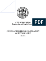 Contractor Pre-Qual Questionnaire_City of San Diego