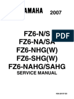 Yamaha FZ6 2007 ALL VERSIONS Service Manual