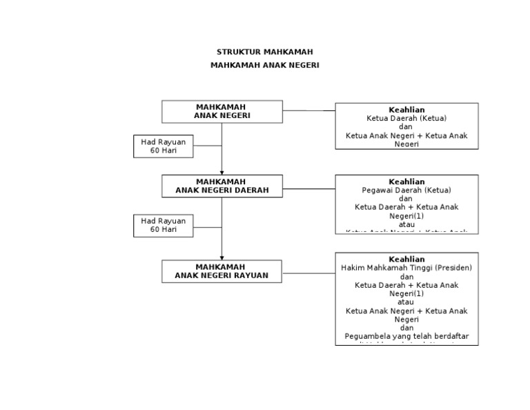 Struktur Mahkamah Mahkamah Anak Negeri