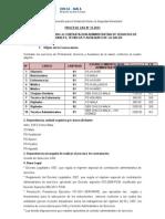 Convocatoria CAS 13-13
