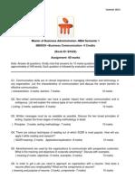 Assignment QP MBA Business Communication MB0039 Summer 2013