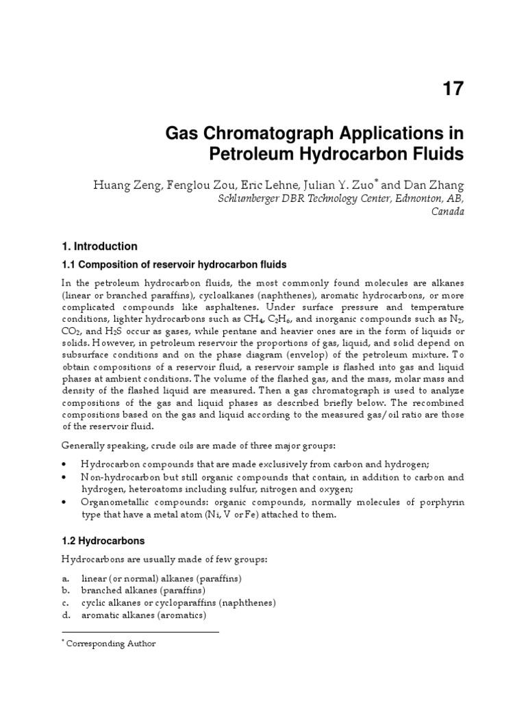 InTech-Gas Chromatograph Applications in Petroleum