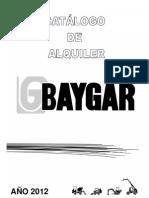 Catalogo de Alquiler Baygar