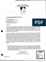 2b. Bud Selig Letter to Frank McCourt Rejecting Fox Sports Television Deal (June 2011)