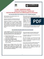 AWS CWI Training Program Brochure
