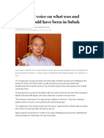 A haunted voice on what was and what could have been in Sabah